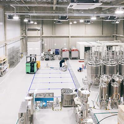 フランス、イタリア等の最新醸造設備を導入。